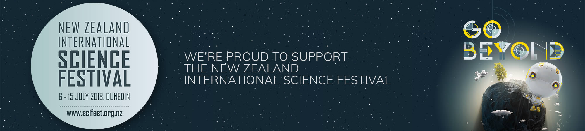 Proud to support the New Zealand International Science Festival